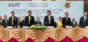 A Power Purchase Agreement was signed in August 2013 between representatives of NNP1 and the Project's two customers, EGAT and EDL