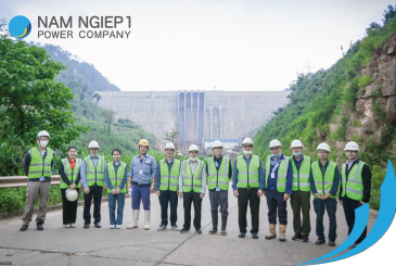 Lao Holding State Enterprise visits Nam Ngiep 1 Hydropower Project