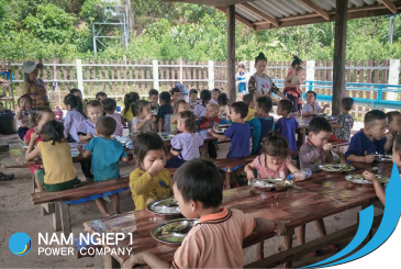 Boosting pre-school children's nutrition in Nam Ngiep 1 Hydropower Project