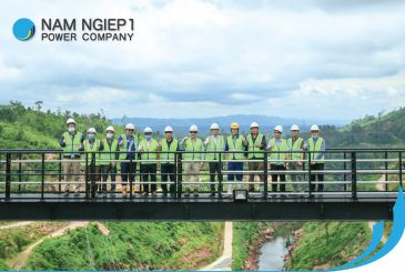 Vice Minister visited Nam Ngiep 1 Project